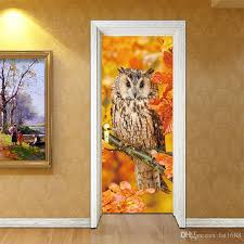 Cartoon Tree Owl Animal Wall Mural Door Sticker Wallpaper Art Vinyl Decals Kids Bedroom Kindergarten Nursery Waterproof Removable Decoration Beach Wall Stickers Bedroom Decal From Fst1688 22 68 Dhgate Com