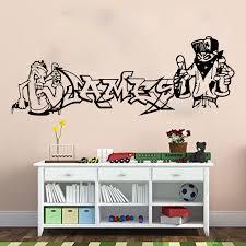 Custom Name Graffiti Street Wall Sticker Boy Room Nursery Personalized Name Graffiti Wall Decal Bedroom Kids Room Vinyl Decor Wall Stickers Aliexpress