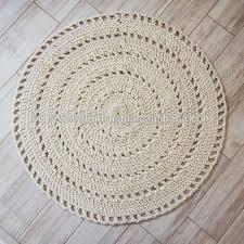macrame round rug crochet rug natural