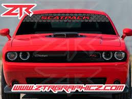 Custom 2015 2020 Dodge Challenger Scatpack Honeycomb Windshield Banner Ztr Graphicz