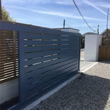 China Aluminum Slat Privacy Fences Metal Slat Fence Gates Sliding Gate Driveway Door China Driveway Door Walkway Gate