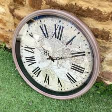 round french antique style wall clock