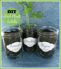 herb plant labels for mason jars and pots