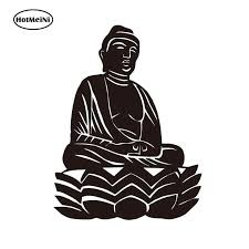 Hotmeini 14 10 7cm Buddha Meditate Car Auto Window Decal Small Vinyl Car Bumper Decal Sticker Decal Car Sticker Black Sliver Car Stickers Aliexpress