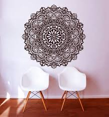 Revamp Your Walls With Mandala Mehndi Om Indian Hindu Buddha Wall Decals Available At Mandal Wall Stickers Mandala Large Wall Stickers Wall Stickers Home Decor