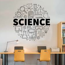 Diy Self Stick Science Sign Wall Vinyl Decal Sticker Education Interior Classroom School Room Decor Wall Decals Removable Lc1419 Wall Stickers Aliexpress