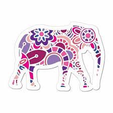 Elephant Laptop Car Sticker Decal Henna Pattern Mandala Hippie Boho Animal Ebay
