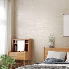 الحديثة محكم خلفية أبيض رمادي بيج بلون ورق حائط غرفة نوم غرفة