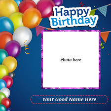 happy birthday wishes card with photo