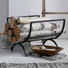 west elm rings fireplace log holder