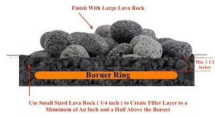 lava rock for use in fireplaces and