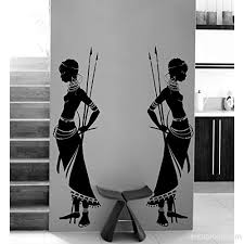 Housewares Tribal Two African Woman Wall Decal Vinyl Wall Stickers Home Decor Living Room Morden Design