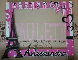 Baby Shower Eiffel Tower Photo Frame Fiestas De Cumpleanos De