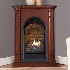 corner ventless gas fireplace wayfair