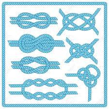 Establece Nudo Marinero Nautico Signo Infinito Cuerda Elemento
