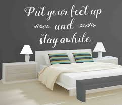 Vinyl Wall Decal Put Your Feet Up Stay Awhile Decal Vinyl Etsy