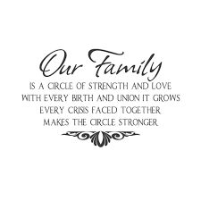 Wall Quotes Wall Decals Our Family Family Love Quotes Family Quotes Strong Family Quotes Inspirational