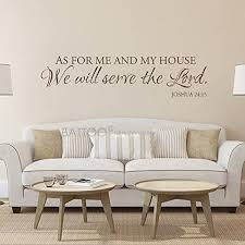 Amazon Com Battoo As For Me And My House Wall Decal Scripture Quote Vinyl Decal Vinyl Lettering Vinyl Wall Decal Bible Verse Christian Wall Art Dark Brown 40 Wx10