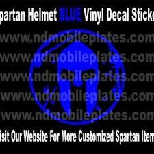 Spartan Helmet Blue Vinyl Decal Race Car Tattoo By Nd Mobile Plates Ebay