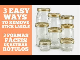 remove sticky labels from a jar