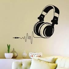 Dj Headphone Stickers And Decal To Personalize Your Listening Space Music Wall Decal Music Wall Decor Sticker Wall Art