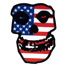 Misfits Us Skull Sticker Liquid Blue