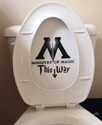 Amazon Com Ministry Of Magic Toilet Harry Potter Decal Sticker Vinyl Die Cut Decal Sticker For Toilet Decoration Handmade