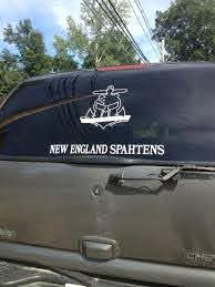 Cut Out Skull Decal New England Spahtens