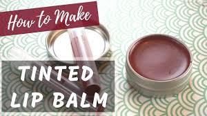 how to make tinted lip balm diy