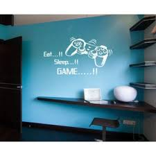 Shop Eat Sleep Game Kids Room Children Stylish Wall Art Sticker Decal Size 22x30 Color White Overstock 13667205