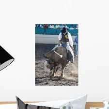 Bull Rider Wall Decal Wallmonkeys Com