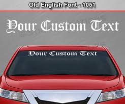 Old English Font Custom Text Letters Vinyl Sticker Decal Graphic Sticky Creations