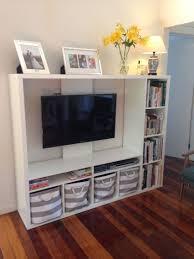 Ikea Lapland Tv Unit With Books And Storage Baskets Tv Storage Unit Tv Unit Design Home Entertainment Centers