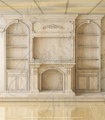 architectural marble fireplace mantel