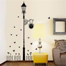 Buy 2pcs Butterfly And Street Lamp Wall Sticker Living Room Bedroom Wall Decal Ornament Wall Stickers At Jolly Chic
