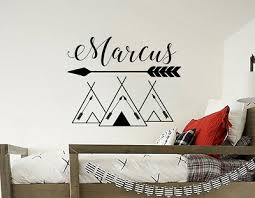 Name Wall Decals Tribal Mountains Decal Mountain Decor Woodland Nursery Art S61 Ebay