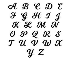 Cursive Letter Vinyl Decal Custom Letter Numbers Symbols Etsy