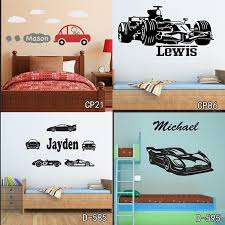 Personized Race Car Wall Stickers Home Decor Diy Poster Decals Kids Room Nursery Mural Vinyl Customized Name Tractor Car For Boy Football Wall Stickers Full Wall Decal From Fashion Wallart 9 12 Dhgate Com