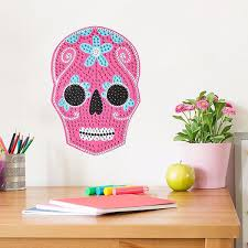 Ba2857 Sugar Skull Bling Art Wall Decal By Brewster