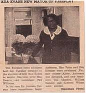 Remembering Ada B. Evans, the First African American Mayor in Colorado and  Her Legacy in Park County, Colorado on The South Park Heritage Experience |  Park County Local History Archives