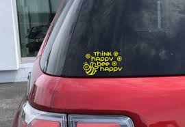 Think Happy Bee Happy Decal Michelle S Variety Shop