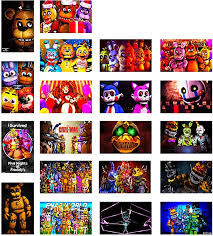 Amazon Com Gtotd Horror Stickers For Five Nights At Freddy S 20pcs Gifts Fnaf Merch Parrty Supplies Sticker Decals Of Vinyls For Laptop Window Gift Skateboard Etc