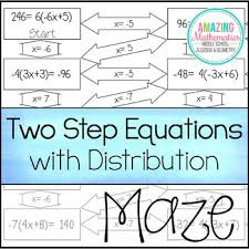 two step equations with distribution