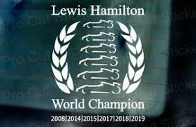 Lewis Hamilton 6 Time World Champion Car Window Bumper Vinyl Wall Sticker Decal Ebay