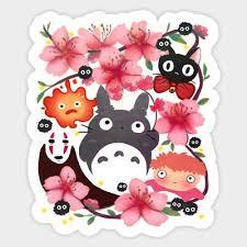 Ghibli Miyazaki Spirits Totoro Ponyo Jiji Vinyl Decal Wall Decor Laptop Sticker Ebay