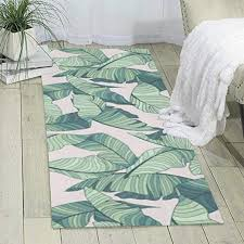 kasablaro green palm tree leaves pink