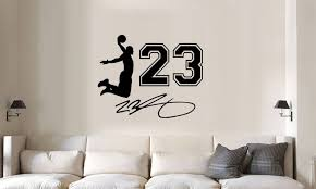 Lebron James Jumpman Jersey Number Auto Vinyl Wall Etsy Lebron James Decal Vinyl Wall Decals Vinyl For Cars