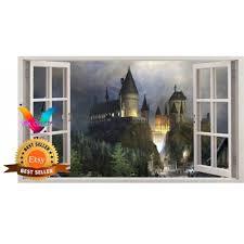 Hogwarts Harry Potter 3d Window Effect Vinyl Wall Art Sticker Boys Room Wall Decal Paris Paradise Decal Bridge Decal Wall Decor Gift