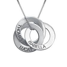 sterling silver russian ring necklace