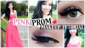 pink prom dress makeup tutorial